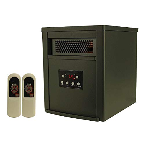 LIFE SMART LifeSmart 6 Element w/Remote Large Room Infrared Heater, Black/Gray (The Best Quartz Infrared Heater)