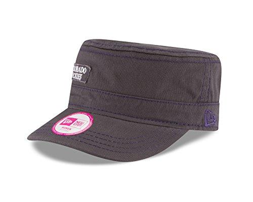 New Era MLB Colorado Rockies Women's Major Chic Adjustable Military Cap, One Size, Graphite Colorado Rockies New Era