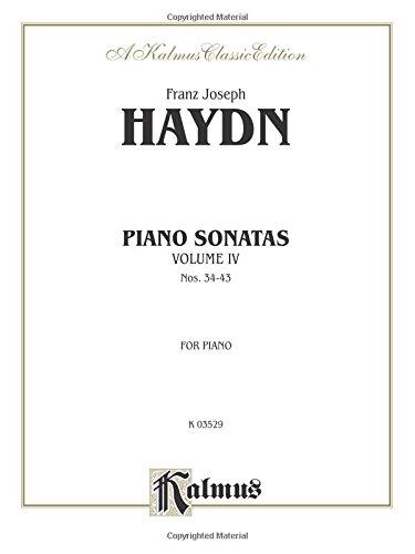 Sonatas, Vol 4: Nos. 34-43 (Kalmus Edition) (35 Piano Sonatas)