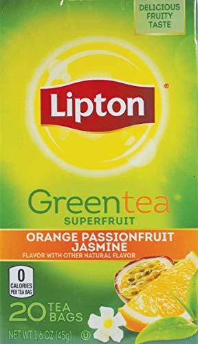 Lipton Green Tea Orange Passionfruit Jasmine 20 Count (Pack of 6)