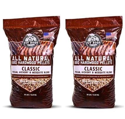 Classic Blend BBQ Grilling Pellets Pit Boss 2 Pack 30 lb Resealable Bag