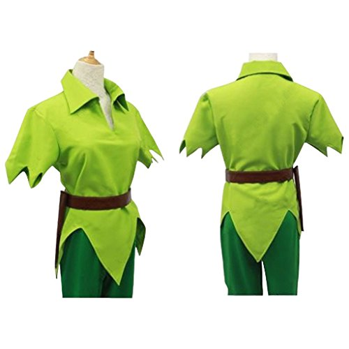 CosplayDiy Men's Green Costume Suit for Peter Pan Cosplay XXXL (Peter Pan Costume Men)