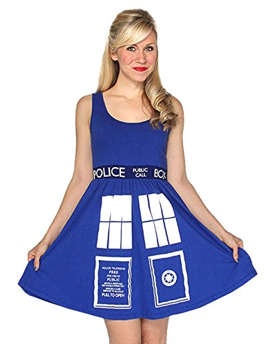 M M Costume And Dress (Doctor Who- Tardis Costume Dress Mini Dress Size)