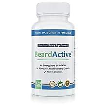Beard Active® - The Best Facial Hair Supplement - 100 % Pure - Help Your Beard Reach Its Full Potenzial
