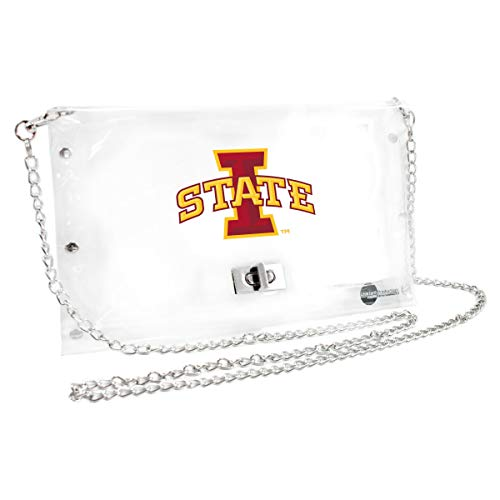 Littlearth Iowa State Cyclones  NCAA Envelope Purse, Clear  - 10 x 0.5 x 6.5 - Inch