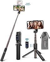 ELEGIANT Selfie Stick Stativ, Bluetooth 3 in 1 Selfiestick Selfie Stange Stab mit abnehmbar Fernbedienung Aluminium...