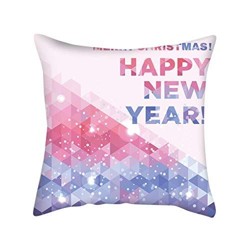Lataw Pillow Case Fashion New Christmas Pink Snowflake Digital Printing Cushion Snow Flake Print Decorative Pillowcases…