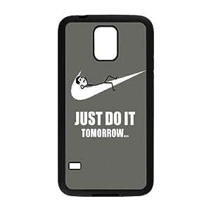 Just Do It Tomorrow Meme Samsung Galaxy S5 Cell Phone Case Black yyfabd-248443