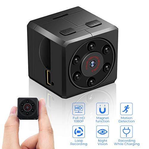 Mini Spy Camera 1080P Hidden Camera Full HD Portable Small Home Nanny Surveillance Cam with Upgraded Motion Detection and Night Vision, Video Camera Wireless Security Camera for Home and Outdoor