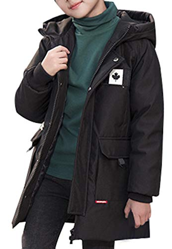 Black Winter B Down Padded SellerFun Jacket Mid Duck Coat Puffer Parka Overcoat Style Thick Boy Hooded Fqwqx6ZC