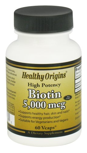 HEALTHY ORIGINS BIOTIN 5,000 MCG, 60 VCAP