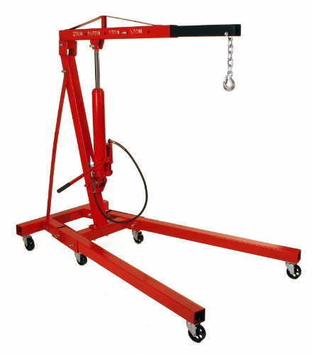 Dragway Tools 2 Ton Folding Air Hydraulic Engine Hoist Cherry Picker Shop Crane Hoist ()