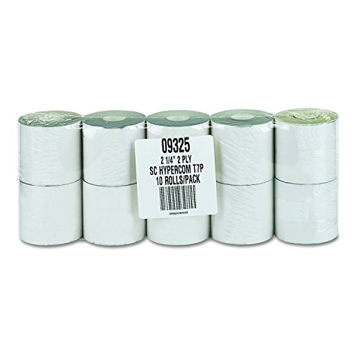 PM Company Perfection CRedit/Debit Verification Rolls, 2-ply White/Canary, 2.25 Inches x 70 Feet, 10/Pack (09325) (Halloween 5 End Credits)