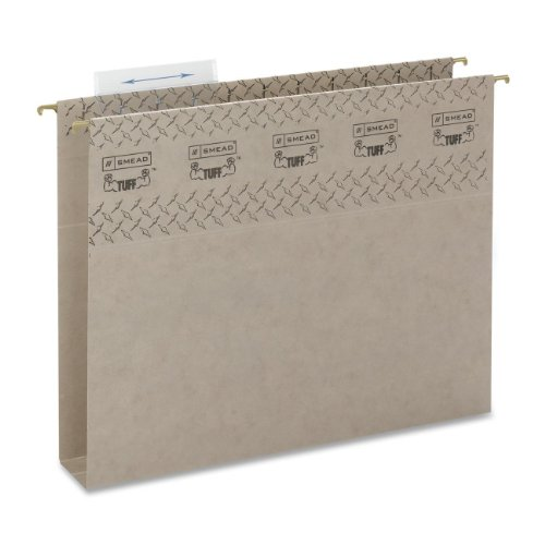 Smead TUFF Hanging Box Bottom Folder with Easy Slide Tab, 2