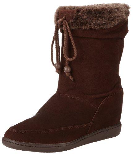Skechers Women's Plus 3-Pyramids Wedge Boot,Chocolate,9 M US