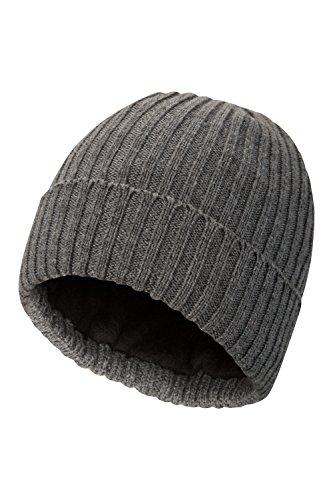Sombrero la Thinsulate Píldora Gorrita Efecto contra de Hizo Mountain la la Hecho Liso de Sombrero Casquillo Gris Tejida Punto Suave del Gorrita Tejida Punto Warehouse 6wR5Z