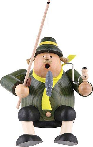 German Incense Smoker Edge stool - Fisherman - 18 cm / 7 inch - KWO by Authentic German Erzgebirge Handcraft