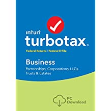 TurboTax Business Tax Software 2017 Fed + Efile PC Download