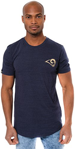 ICER Brands Men's T Active Basic Space Dye Tee Shirt, Team Color, Navy, Large