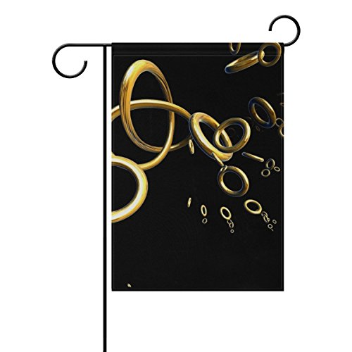 DNOVING Home Decorative Outdoor Double Sided Graphic Rings G