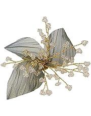 SOIMISS Grönt blad hårspänne bröllop hårspänne utsökt hårnål för kvinnor flickor hårdekoration