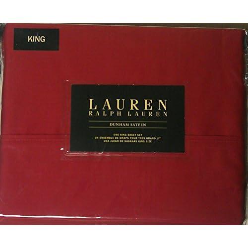 Hot Lauren Ralph Lauren King Admiral Red Dunham Sateen Sheet Set