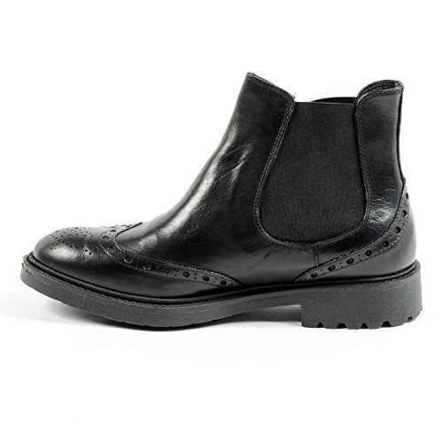 Andrew Charles Mens Ankle Boot Black Bob 4NH4A3cOPk