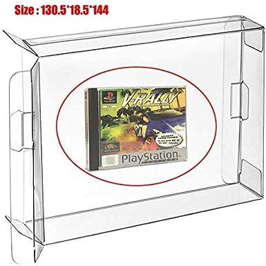 Ruitroliker 10 Pcs Funda CIB Protector Box para Caja de Cartucho de Juegos PS1 2CD Saturn Single CD Box Dreamcast Single CD Box: Amazon.es: Videojuegos