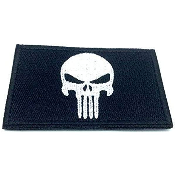 Punisher - Parche bordado Airsoft Cosplay negro: Amazon.es: Oficina y papelería