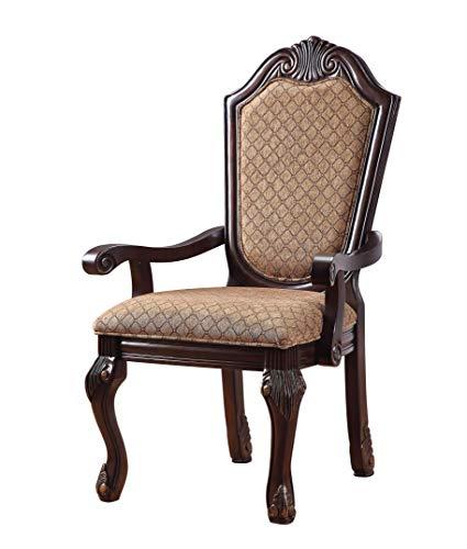 ACME Furniture 64078 Chateau de Ville Espresso Arm Chair (Set of 2)