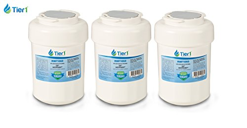 GE MWF SmartWater MWFP Comparable Refrigerator Water Filter 3 Pack (Ge Mwf Water Filter 3 Pack)