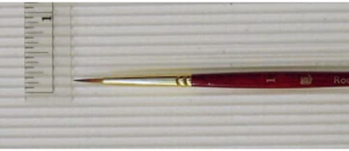 Series 4050 Liner Synthetic Sable Princeton Heritage Size 6 Golden Taklon Brush for Watercolor /& Acrylic