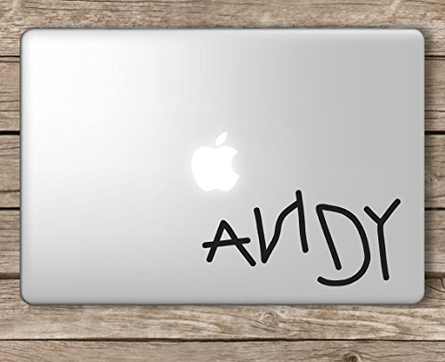 Andy Sticker - Andy's Toys Andy Toy Story - Apple Macbook Laptop Vinyl Sticker Decal, Die cut vinyl decal for windows, cars, trucks, tool boxes, laptops, MacBook - virtually any hard, smooth surface