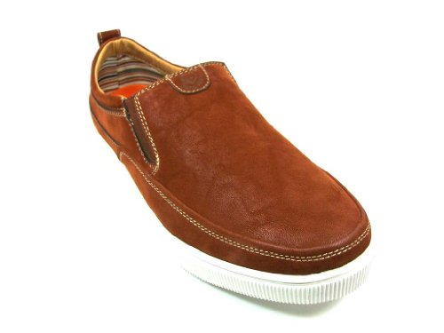 Menns 30199 Slipon Rund Tå Loafer Casual Sko Brun