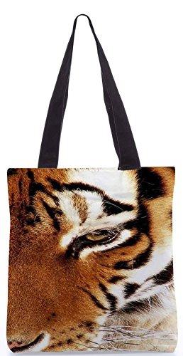 Snoogg Tiger 22 13.5 x 15 Zoll-Shopping-Dienstprogramm-Einkaufstasche aus Polyester-Segeltuch gemacht