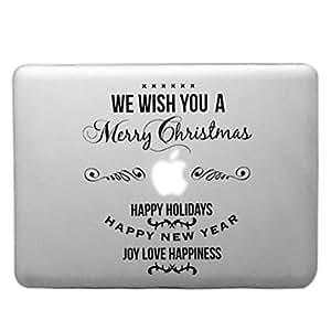 """GONGXI-Patrón Feliz Navidad caja dura transparente PC para el MacBook Pro (colores surtidos) , Rojo , 13.3"""""""