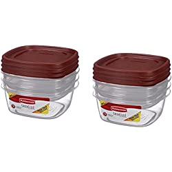 Rubbermaid Easy Find Lids Storage Containers, Value Pack, 3 each,( Pack of 2 )