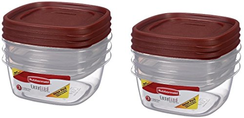 Lids Storage Containers, Value Pack, 3 each,( Pack of 2 ) (Rubbermaid Stackable Storage)