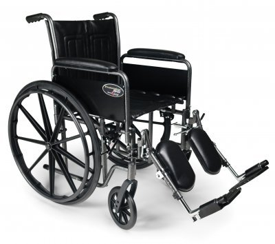 Everest & Jennings 3E000000 Traveler SE Wheelchair, Fixed Full Arms, Fixed Footrest, 18