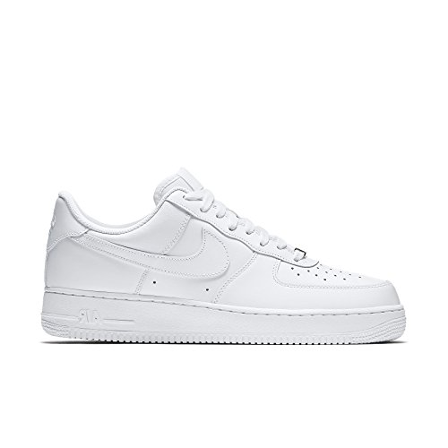 Nike Mens Air Force Low 1 Basketball Shoe White/White 9