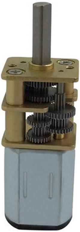 EG-BIANSU, 1pc Bringsmart Mini N20 3-6V DC Velocidad tirón Motores reductores de 5 rpm-40 RPM el Motor del Engranaje con el Metal Motor Reductor for el Robot de Bricolaje (Size : 6v 10rpm)