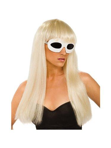 Rubie's Women's Lady Gaga Straight Blonde Wig with Bangs -