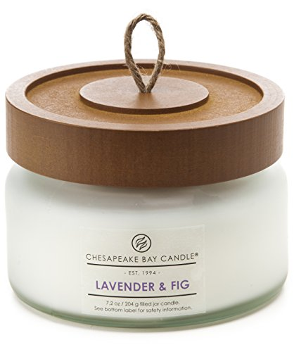 Chesapeake Bay Candle Heritage Collection Small Glass Jar Scented Candle with Lid, Lavender &amp ...
