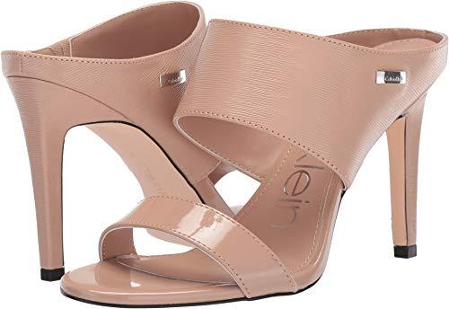 Calvin Klein Women's Shayna Desert Sand Patent Smooth 7.5 M US (Men Calvin Shoes Sandal Klein)