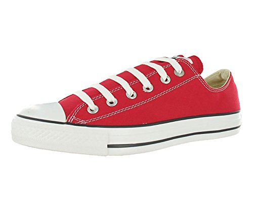Converse Mens Chuck Taylor All Star Ox Red Fabric Fashion Sneakers Size 7.5