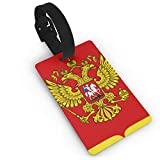 KODW12 Coat of Arms of The Russian Federation Luggage Tag Travel Bag Labels Suitcase Bag Tag Name Address Cards