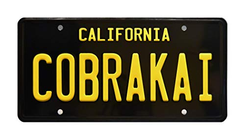 Cobra License Plate - Celebrity Machines Cobra Kai Season 2 | Johnny's Challenger | Metal Stamped Replica Prop License Plate