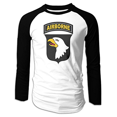 Airborne Long Sleeve T-shirt (Army 101st Airborne Division Men's Long Sleeve Raglan Shirt Baseball T-Shirt Raglan T-Shirt)
