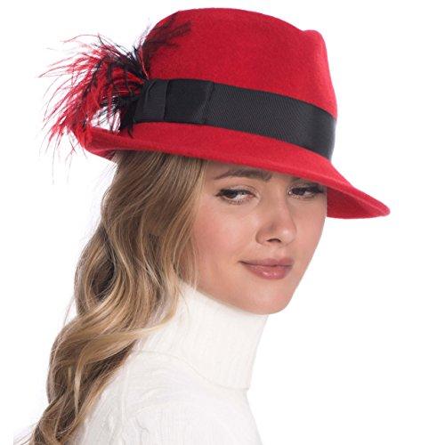 Eric Javits Luxury Fashion Designer Women's Headwear Hat - Mitzi - Red Mix by Eric Javits