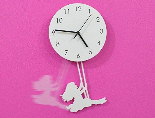 Swinging Girl - Pendulum Wall Clock